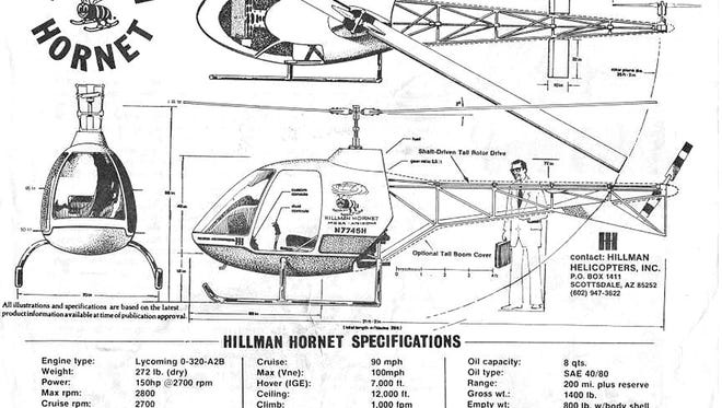 Debuting in 1978, the Hillman Hornet was developed as an affordable two-seat, kit $18,500 helicopter by amateur designer Doug Hillman.
