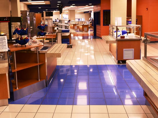 The CASHS cafeteria is quiet before students arrive