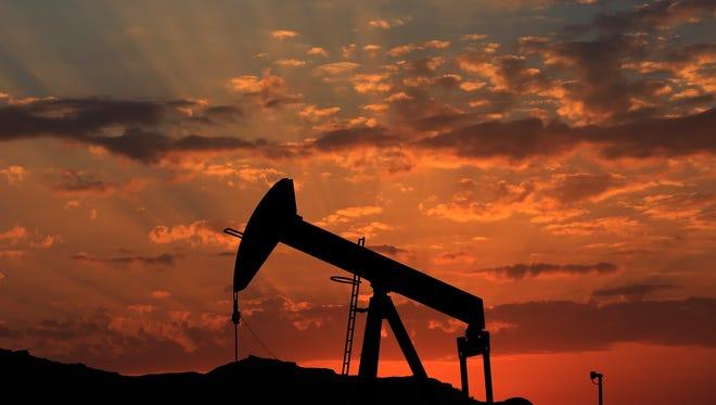 An oil rig in Bahrain.