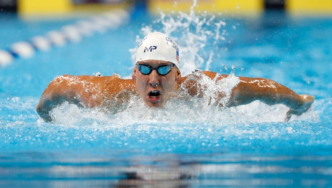 Chase Kalisz, who trains at ASU with coach Bob Bowman, was fastest in 400-meter IM qualifying Sunday at the U.S. Olympic Swimming Trials.