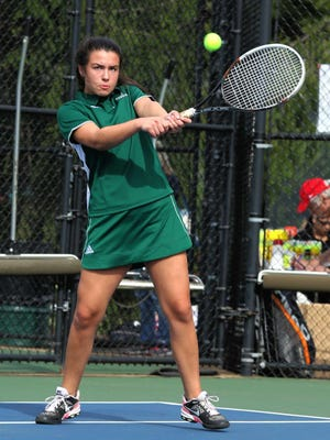 STEPPING UP - First singles player Ekaterina Lavrenov is 4-6 this season for the Passaic Valley girls' tennis team that played in their final match of the 2016 season this week.