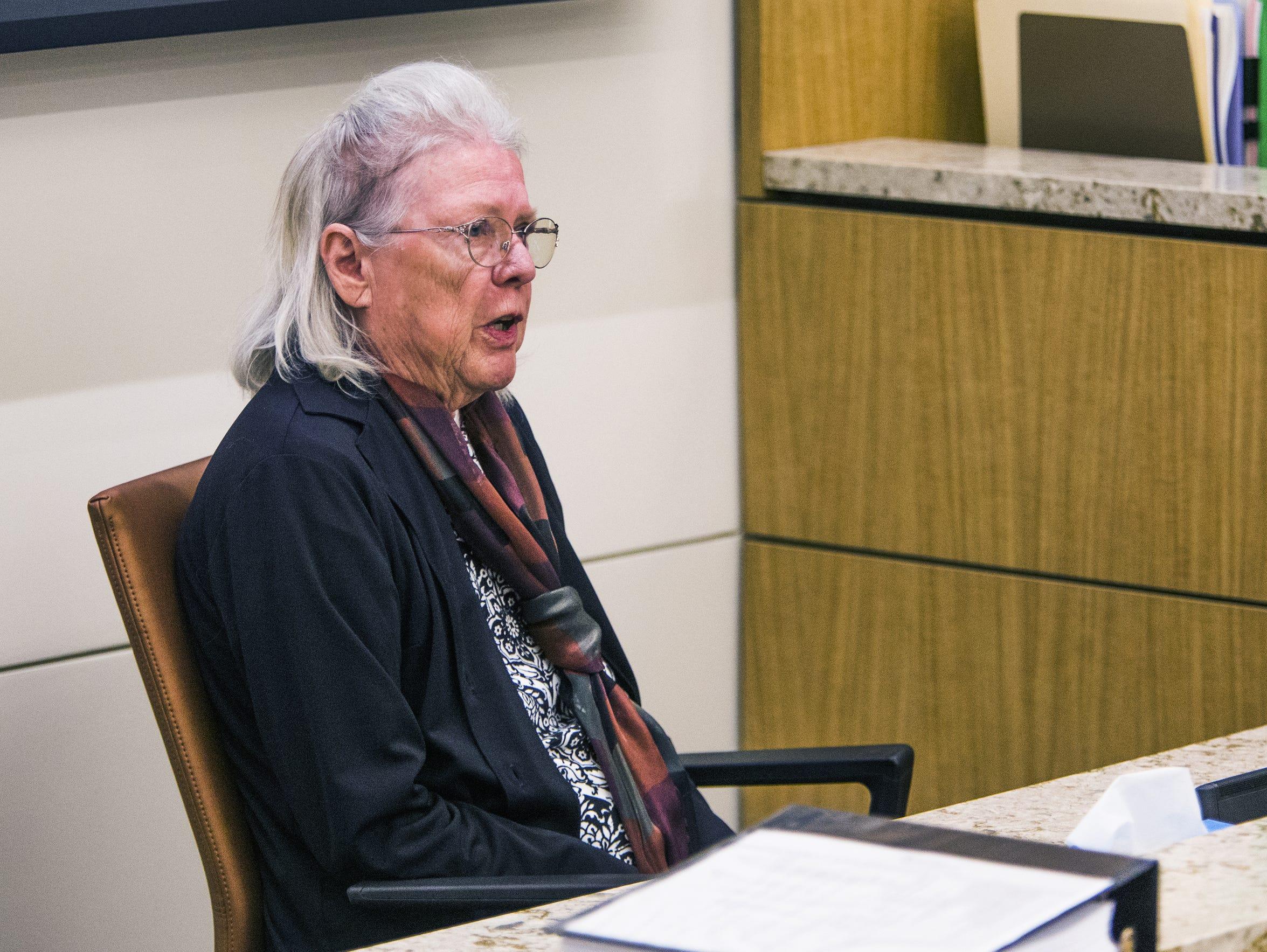 Teresa Grider testifies about her ex-husband Sam Grider
