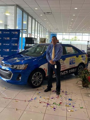 Onslow County Sheriff's Office Maj. Tommie Thomas is this year's United Way of Onslow County's Champion Challenge Giveaway winner of a 2019 Chevy Sonic sponsored by Marine Chevrolet Cadillac. He has donated to the United Way since he started working at the Sheriff's Department in 1993.