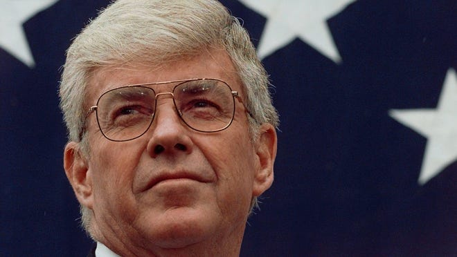 Jack Kemp is shown in 1996, when he was Bob Dole's running mate on the Republican presidential ticket.