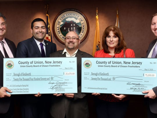 (Left to right) FreeholderAl Mirabella, Freeholder