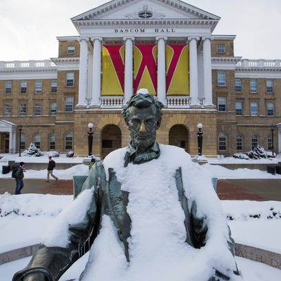 Bascom Hill on the University of Wisconsin campus in