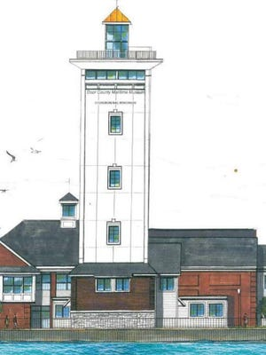 Architectural drawing of planned tower at Door County Maritime Museum.