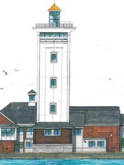 Drawing of planned Maritime Museum tower.