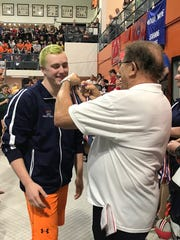 Galion sophomore Caleb Strack receives his fourth place