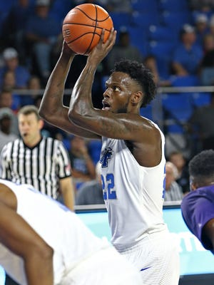 JaCorey Williams (22) looked impressive in his MTSU debut against North Alabama.