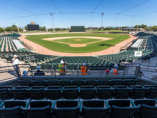 Mesa's Hohokam Stadium seating