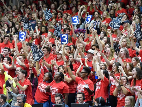 The fans go wild as it's evident that Belmont is going