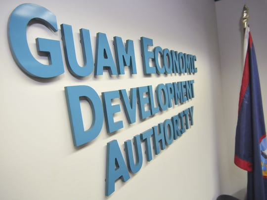 The entrance to the Guam Economic Development Authority,