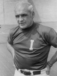 Indiana football coach John Pont - date and photographer