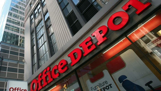 Office Depot announces plans to offer same-day delivery in three markets.