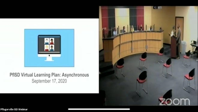 The Pflugerville school board met Thursday night and voted to submit an asynchronous learning plan to the Texas Education Agency by Oct. 1.