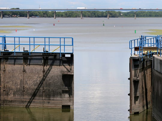 The Fox River Navigational System Authority is evaluating the use of an electric barrier downstream of the Menasha lock.