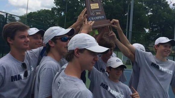 The Montgomery Academy boys tennis team has won six