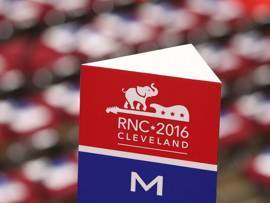 EPA USA REPUBLICAN NATIONAL CONVENTION POL ELECTIONS USA OH