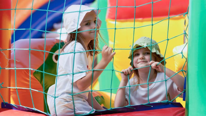 Making sure kids in bounce houses are of similar age and size can help prevent injuries.