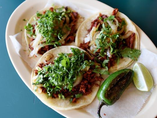 Tacos from Taqueria Sin Frontera.