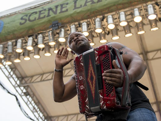 Dwayne Dopsie & the Zydeco Hellraisers work the crowd