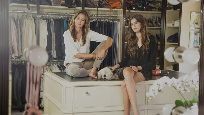 Cindy Crawford and daughter Kaia Gerber pose for 'The Thick.'