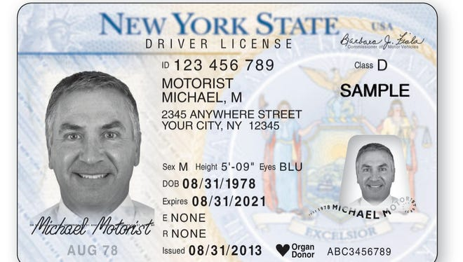 A sample of a NY driver's license