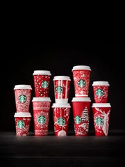 Starbucks new line of red cups.