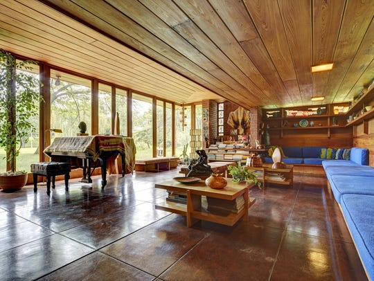 The Frank Lloyd Wright Smith House has been left exactly