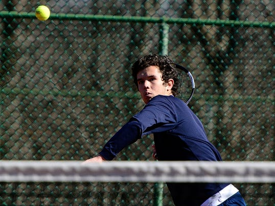 Dallastown's John Schmitt is the No. 1 seed and defending champion in the York-Adams League Class AAA Singles Boys' Tennis Tournament.