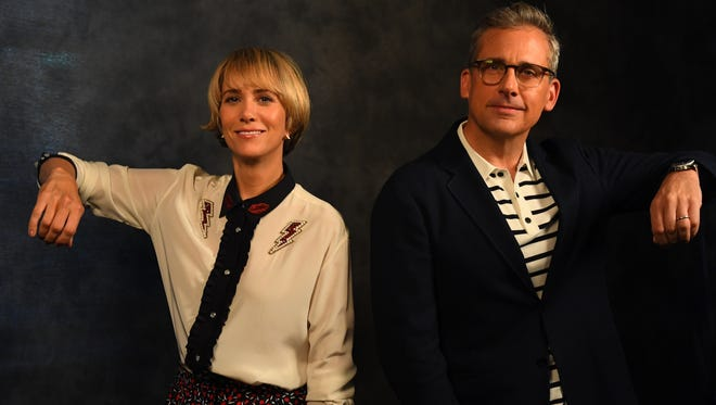 Kristen Wiig, left, and Steve Carell are back as Lucy and Gru in the animated family comedy 'Despicable Me 3.'