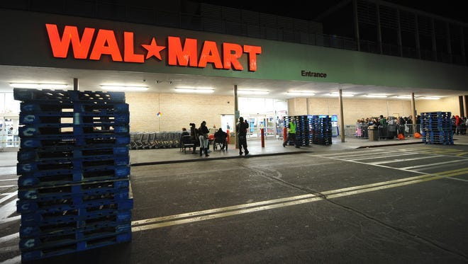 A Wal-Mart store is viewed in Los Angeles, California before dawn in this November 27, 2009 file photo.