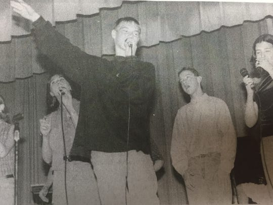 Members of Grace Fellowship youth group performed during