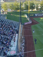 New protective netting is in place at Hammons Field,
