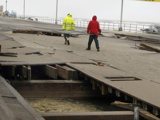 Sandy boardwalks