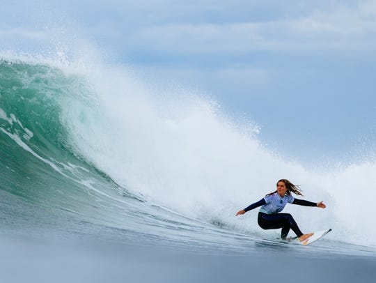 Caroline Marks won Heat 3 of Round 3 at the Rip Curl