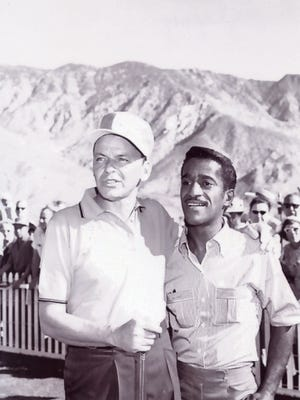 Sammy Davis Jr. seen with Frank Sinatra at the Canyon Country Club in Palm Springs.