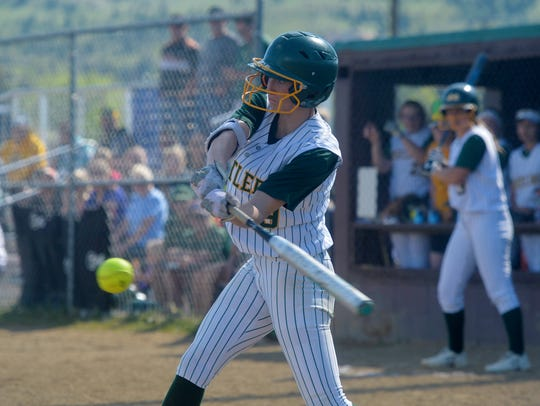 CMR's Madi Moore bats in Thursday's game against Helena
