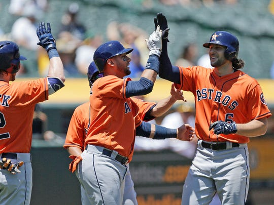 The Houston Astros, the top-ranked team in the AL, have been doing a lot of celebrating this season.