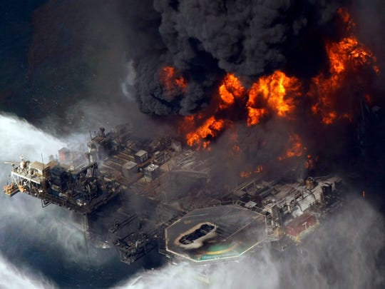 In this 2010 file photo, the Deepwater Horizon oil