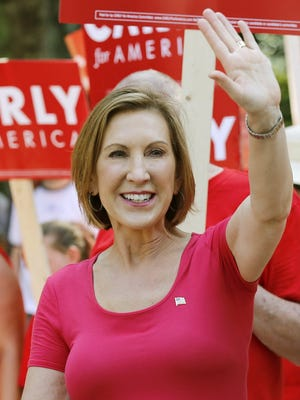 Republican presidential candidate Carly Fiorina campaigns in Milford, N.H., on Sept. 7, 2015.