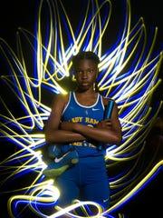 Derica Gibson of John Carroll High School, all-area girls track finalist.