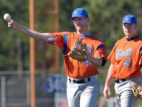 In 2003, New York Mets third basemen Jay Bell takes