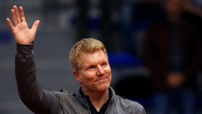 U.S. Davis Cup captain Jim Courier, shown before a match against Serbia in early February, will lead his team against Belgium on April 6-8 at Curb Event Center.