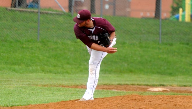 Stuarts Draft's Bryce Carter struggled in the first inning, but settled down to get the win over Wilson Memorial Tuesday afternoon. The Cougars will play Page County for the Conference 36 championship Thursday.