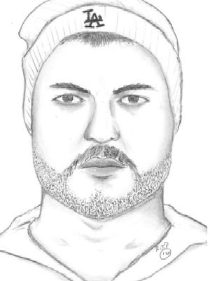 Composite sketch of one of the suspects in an attempted robbery Monday night in Port Hueneme.