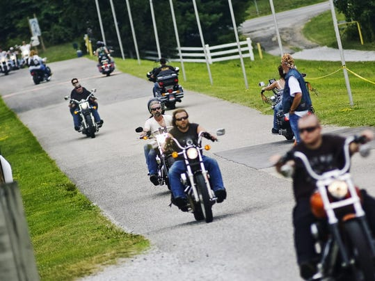Bikers ride into a past Bike Week at at Granite Hill Resort Campground.