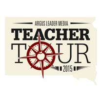 Reporter Patrick Anderson is talking about education and funding during his #ArgusTeacherTour through South Dakota.