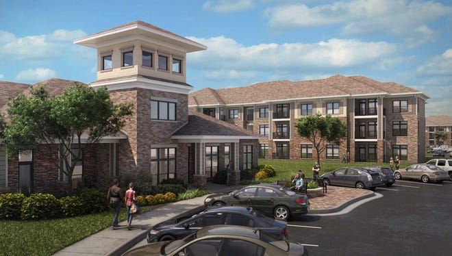 This rendering shows how The Villages of Peytona Downs in Gallatin will look once construction is complete.